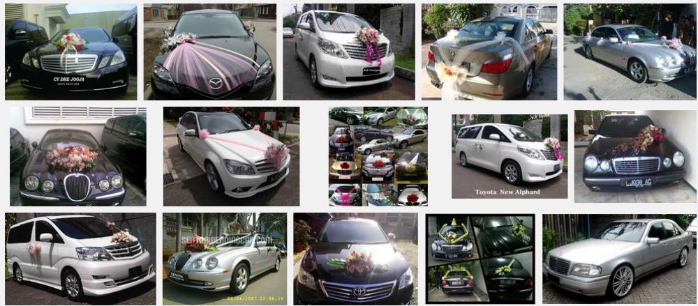 Contoh Desain Dekorasi Bunga Rental Sewa Mobil Pengantin